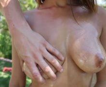 Big tittied gymnast fucks her coach – Fitness porn