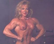 Female bodybuilder porn – Gayle Moher naked flexing