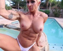 Muscle porn – Female bodybuilder Jill Rudison nude