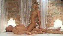 Stunning teen oils hard cock – Porn massage