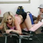 Gym porn - Linn Karter has sex in the gym