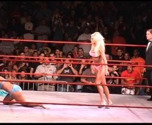Torrie Wilson vs. Stacy Keibler vs. Ivory WWE Porn Bikini Contest