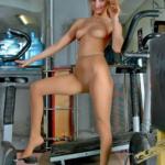 Pantyhose gym time