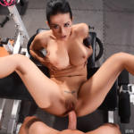 Katrina Jade gets drilled by a thick cock in the gym - Gym sex