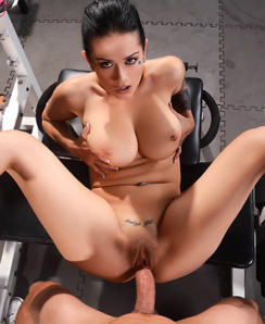 Katrina Jade gets drilled by a thick cock in the gym – Gym sex