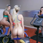 Fitness Lesbian threesome with Kenna James, Blake Eden and Karlie Montana