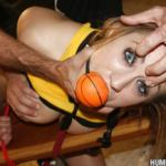 Fitness porn - Teen Amber Ashlee sucking a cock and made to masturbate in BDSM sex