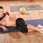 Luxurious flexy babe with nice ass and breasts makes sport exercises - Workout porn