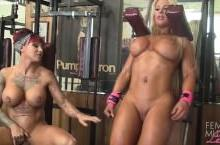 Dani Andrews and Megan Avalon Muscle Lesbians – Fitness porn
