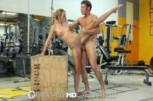 Gym sex – Jessa Rhodes rides guys hard dick for her workout