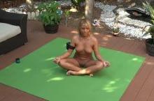 Jenny Scordamaglia Outdoor Nude Yoga