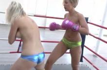 Nicola vs jennifer topless boxing – WWE porn