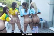 Hot Soccer Chicks Fucked by Coach – Nude sports