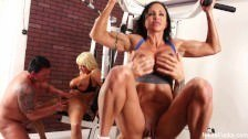 Nikita Von James Workout porn 4some in the gym