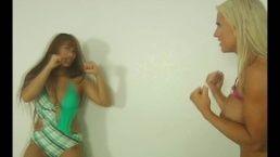 Nude fitness model Megan avalon fighting