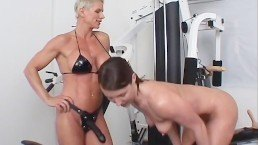 Strap On Champion Workout Scene 1 – Fitness lesbians