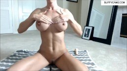 Fitness Camgirl recorded on webcam