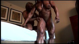 Muscle lesbians playing with each other – Muscle porn