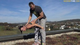 Sophie outdoor nude workout and fuck