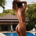 Sexy Fitness Naked Girl By The Pool
