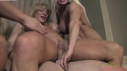 Female bodybuilder Threesome – Muscle porn