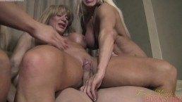 Female bodybuilder Threesome – Muscle porn