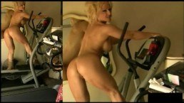 Fitness nude elliptical – Naked workout