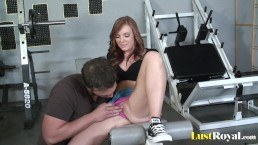 Gym sex action featuring slutty Dani Jensen