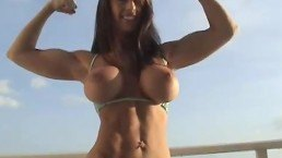 Big Tit Muscle Girl Flexing