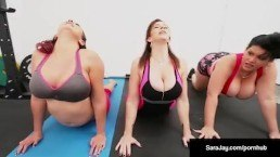 Sara Jay Gia Love & Angelina Castro Do Some Lesbian Yoga