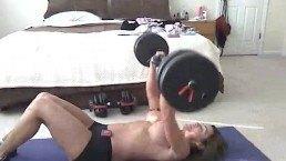 Debbi topless workout