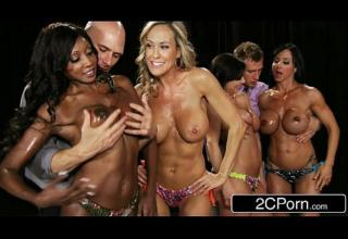 Fitness Contest Orgy – Brandi Love, Diamond Jackson, Kendra Lust, Jewels Jade