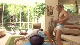 Sex between milf and her personal trainer