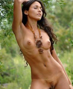 Martina nude in the jungle