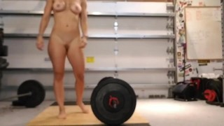 Nude Clean and Jerk workout