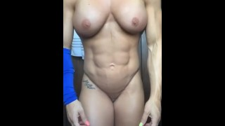 Amazing Fitness muscular girl