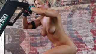 Naked Treadmill Workout FA