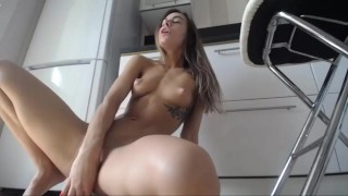 Amazing solo fit girl with lovense lush and dildo from chaturbate
