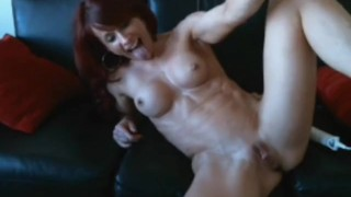 Red Head with Washboard Abs