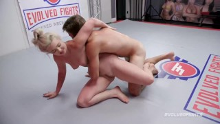 Mixed Wrestling Fight As Kay Carter Gets Fucked Silly By Nathan Bronson
